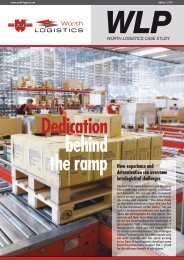 Dedication behind - e.wurth-logistics.com - Würth Logistics