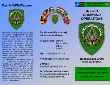 ALLIED COMMAND OPERATIONS - ACO - Nato
