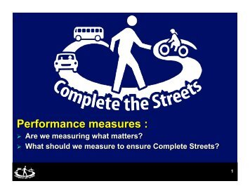 Performance measures - Smart Growth America