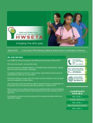 Bridging the Skills Gap - The Health and Welfare Sector Education ...