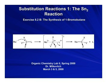 Substitution Reactions 1: The Sn Reaction
