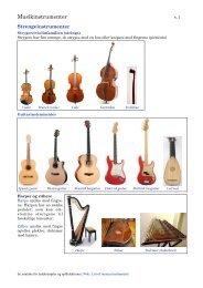 Oversigt over musikinstrumenter - Jakob Jensen