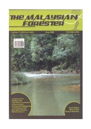 Page 1 Page 2 THE The Malaysian Forester is aninternational ...
