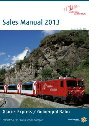 Sales Manual 2013 Glacier Express / Gornergrat Bahn