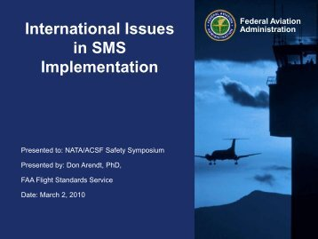 International Issues in SMS Implementation