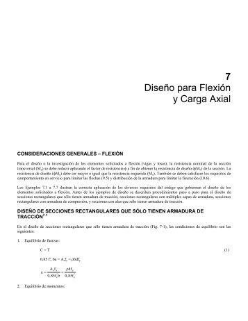 7 Diseño para Flexión y Carga Axial - Inti