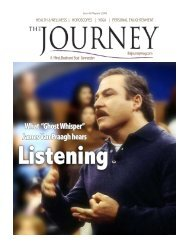 James Van Praagh hears - The Journey Magazine