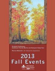 fall events brochure - Association of Marina Industries