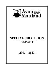 special education report 2012 - Avon Maitland District School Board