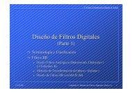 Diseño de Filtros Digitales - Tecnun