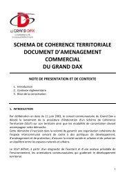 schema de coherence territoriale document d ... - Grand Dax