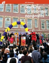 Working for stronger nonprofits - IFF