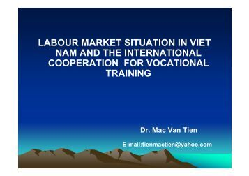 International cooperation for vocational training