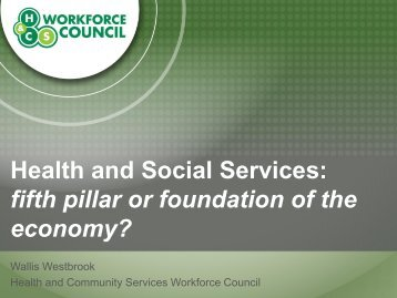 fifth pillar or foundation of the economy? - Leading Age Services ...