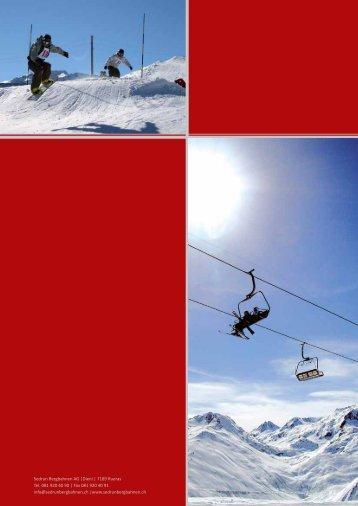 Sedrun Bergbahnen AG |Dieni | 7189 Rueras Tel. 081 920 40 90 ...