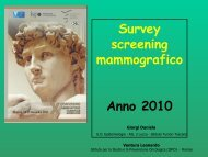 Survey screening mammografico Anno 2010