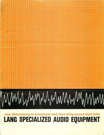 Lang Electronics, Inc.
