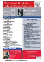 Preview - Wolfgang G. Haas. - Musikverlag Köln ek