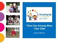 Time Use Among Nine- Year Olds - Growing Up in Ireland