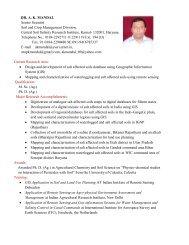 DR. A. K. MANDAL Senior Scientist Soil and Crop ... - CSSRI Karnal