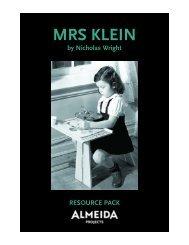 mrs klein resource pack.qxp - Almeida Theatre