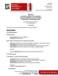 Séminaire Les droits d'auteurs à l'ère numérique: Un ... - Europe
