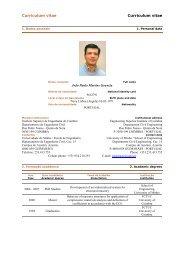 Curriculum vitae Curriculum vitae - Departamento de Engenharia Civil