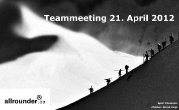 Teammeeting 21. April 2012 - allrounder Ski
