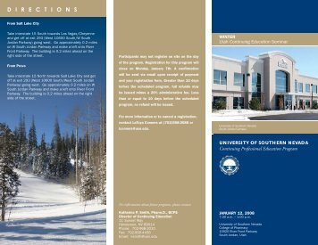 Winter Utah Continuing Education Brochure 011208