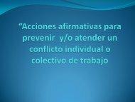 """""""Acciones afirmativas para prevenir y/o atender un conflicto ..."""