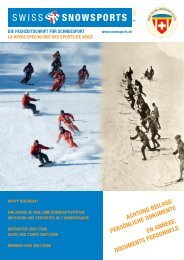 75 Jahre Schneesport Schweiz - Swiss Snowsports