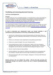 Learning contract/agreement