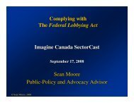 Complying with The Federal Lobbying Act Imagine Canada ...