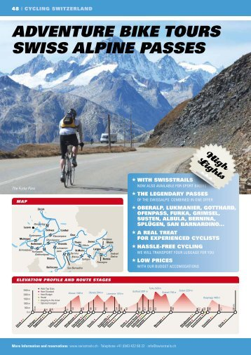 adVEnTurE bikE TourS SwiSS alpinE paSSES - Swiss Trails