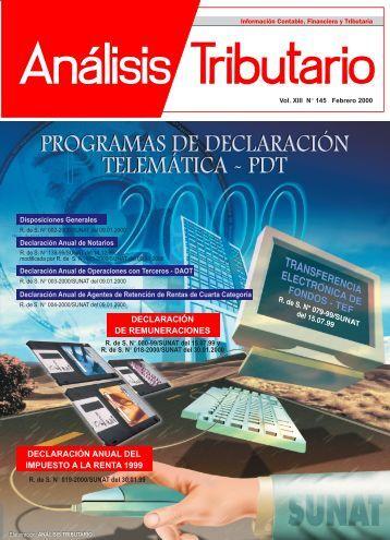 DECLARACIÓN ANUAL DEL IMPUESTO A LA RENTA 1999 ... - AELE