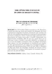 Uma leitura para o XXI da carta de Galileo a Castelli