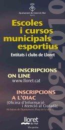 Escoles i cursos municipals esportius 2009-2010 - Ajuntament de ...
