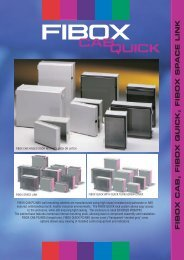 FIBOX CAB, FIBOX QUICK, FIBOX SP ACE LINK - Comdes