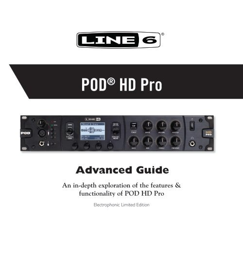 Line 6 POD® HD Pro Advanced Guide (v2 0, Rev  A) Line 6