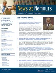 Dedicated to Community Physicians - Nemours