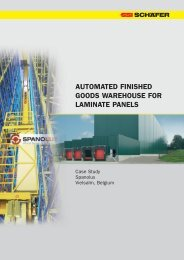 automated finished goods warehouse for laminate ... - SSI Schäfer
