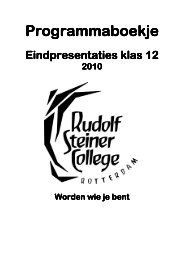 Programmaboekje Programmaboekje - Rudolf Steiner College ...