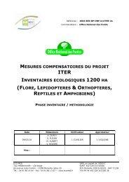 flore, lépidoptères & orthoptères, reptiles et amphibiens - iter france