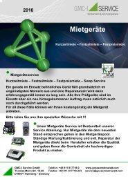 Mietgeräte - GMC-I Service GmbH
