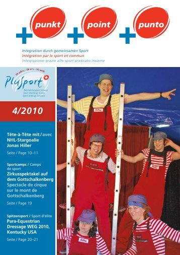 +punkt 4/2010 (pdf, 3.1MB) - PLUSPORT Behindertensport Schweiz