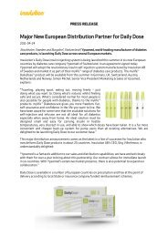 Major New European Distribution Partner for Daily Dose - Insulution