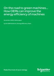 On the road to green machines… - Schneider Electric