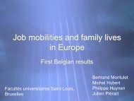 Présentation PowerPoint - Job Mobilities and Family Lives in Europe