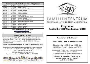 Programm September 2009 bis Februar 2010 - Lutherische ...
