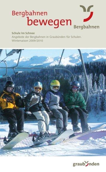 Anbieter Winter 2009/2010 - Graubünden